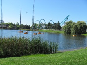 Darien Lake:a serene picturesque view