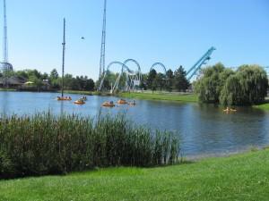 Darien Lake:a serene picturesque view