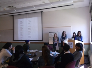 T shirt contest presentation by fashion design sophomores