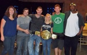 Posing with Matt Corey's belt.