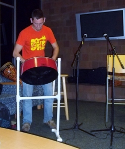 Bobby rocking out on the Steel Drum