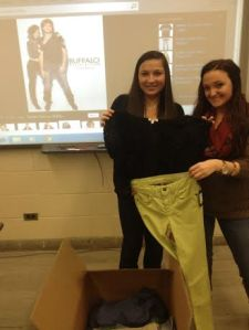 Last spring students in the fashion program at GCC received a box of clothing from Buffalo David Bitton's Spring 2014 line.
