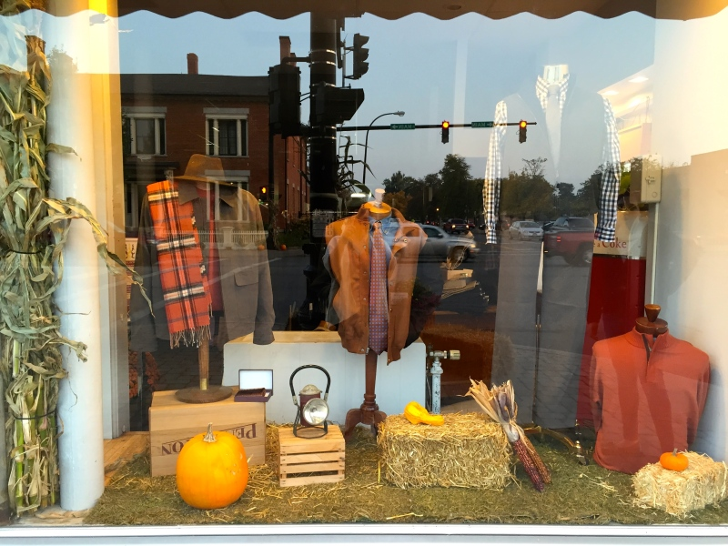 My First Window Display At Charles Men's Shop.