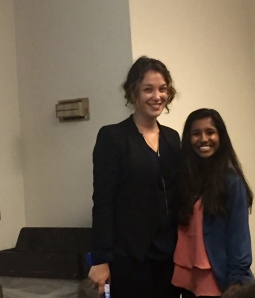 GCC student Lekha Anderson with Michelle of The Doneger Group.