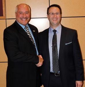 David Steel with President Sunser