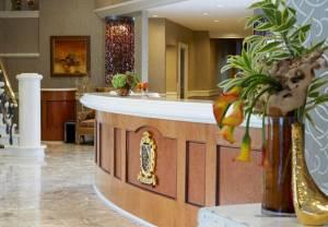 The Del Monte Renaissance Hotel front desk.