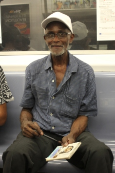 An artist who sketched me on the subway!