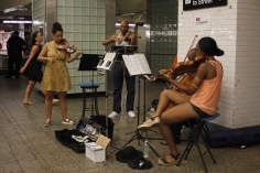 I saw this band playing in the subway @ 42nd St. Times Sq,