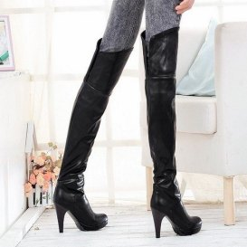 40-off-Promotion-Thick-High-Heel-Knight-Boots-Slim-Leg-Tall-Boots-Exceed-Knee-Boots-Bootie